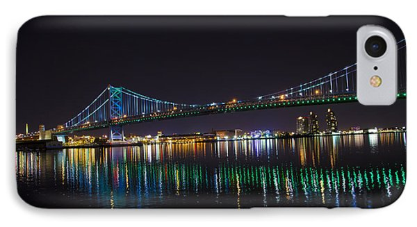 The Ben Franklin Bridge At Night Phone Case by Bill Cannon