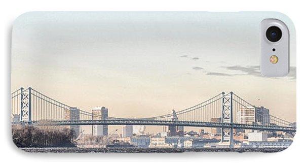 The Ben Franklin Bridge From Penn Treaty Park Phone Case by Bill Cannon