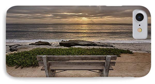 The Bench IIi IPhone Case by Peter Tellone