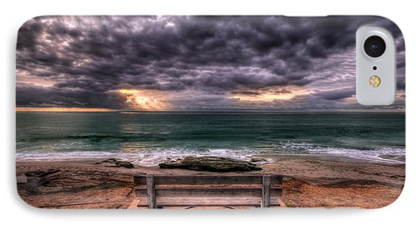The Bench - Lrg Print IPhone Case by Peter Tellone