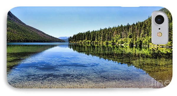 The Best Beach In Glacier National Park Panorama 2 Phone Case by Scotts Scapes