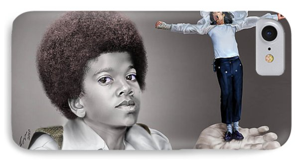 The Best Of Me - Handle With Care - Michael Jacksons IPhone Case by Reggie Duffie