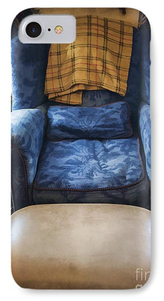 The Big Blue Chair - Oil Phone Case by Edward Fielding