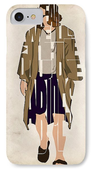 The Big Lebowski Inspired The Dude Typography Artwork IPhone Case by Ayse Deniz