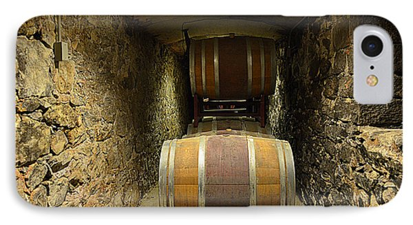 The Biltmore Estate Wine Barrels IPhone Case by Luther Fine Art