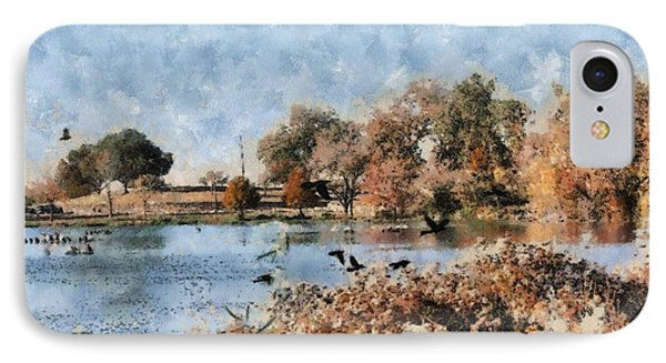 The Birds Of White Rock Lake Phone Case by Lorri Crossno