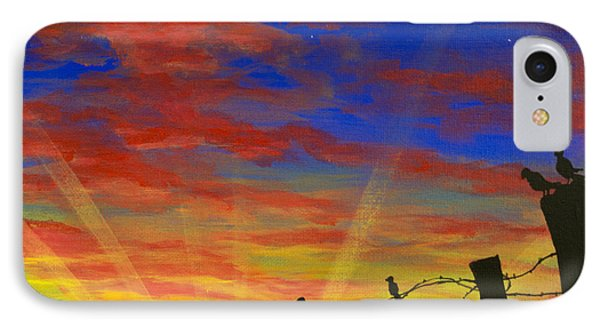 The Birds - Red Sky At Night IPhone Case
