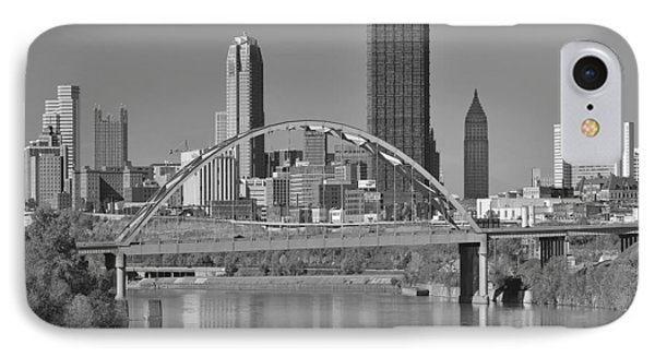 The Birmingham Bridge In Pittsburgh Phone Case by Digital Photographic Arts