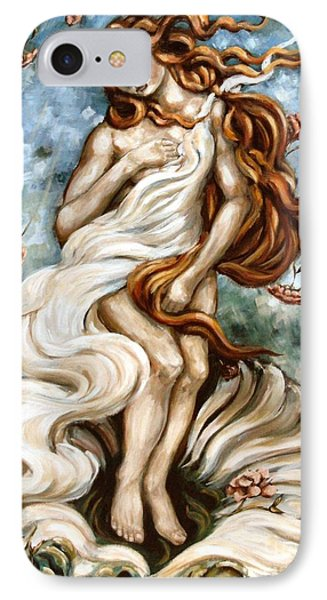 The Birth Of Compassion IPhone Case by Carrie Joy Byrnes