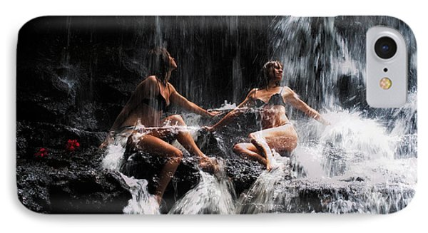 The Birth Of The Double Star. Anna At Eureka Waterfalls. Mauritius. Tnm Phone Case by Jenny Rainbow