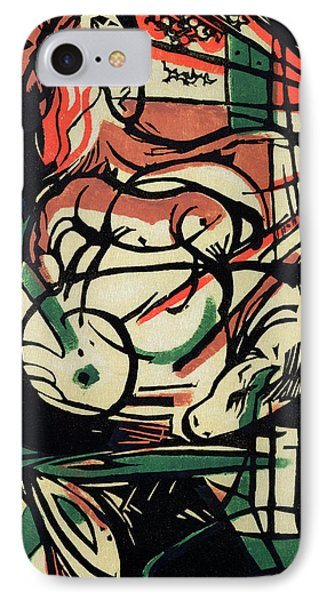 The Birth Of The Horse IPhone Case by Franz Marc