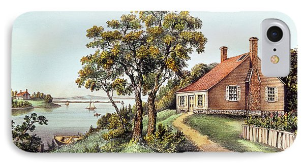 The Birthplace Of Washington At Bridges Creek IPhone Case by Currier and Ives