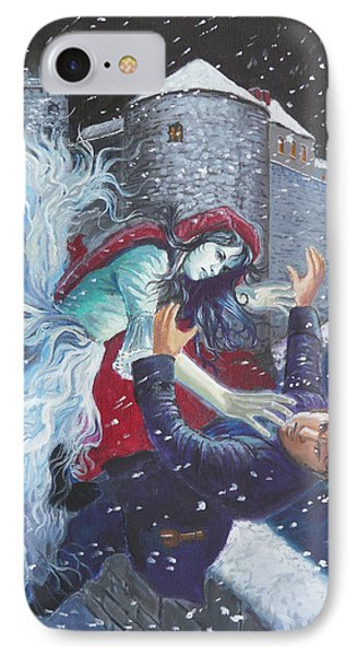 The Bishops Lady Attacking Thady Phone Case by Tomas OMaoldomhnaigh