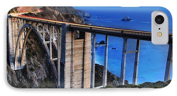 The Bixby Bridge  IPhone Case by Marco Crupi