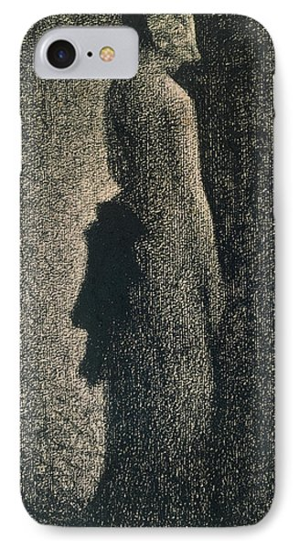 The Black Bow Phone Case by Georges Pierre Seurat