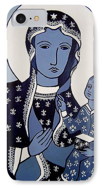 The Black Madonna In Blue Phone Case by John  Nolan