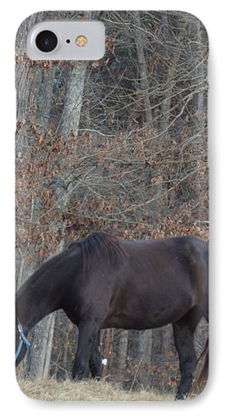 IPhone Case featuring the photograph The Black by Maria Urso