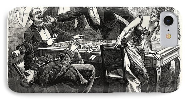 The Black Robe Scene In The Drawing-room At Boulogne IPhone Case