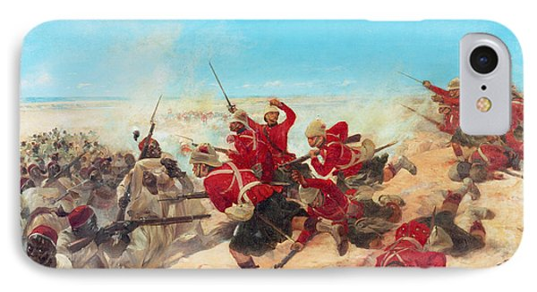 The Black Watch At The Battle Phone Case by Henri-Louis Dupray