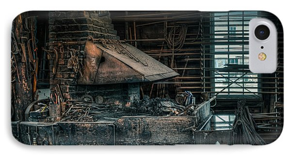 The Blacksmith's Forge - Industrial Phone Case by Gary Heller