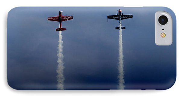 IPhone Case featuring the photograph The Blades Going Up Sunderland Air Show 2014 by Scott Lyons