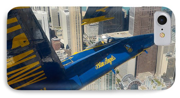 The Blue Angels Over Chicago IPhone Case by Specialist 1st Class Michael Lindsey