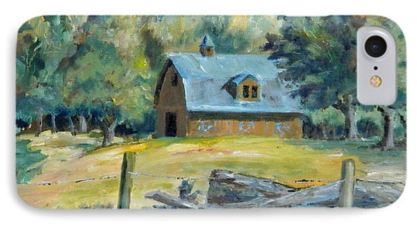 The Blue Barn IPhone Case by William Reed