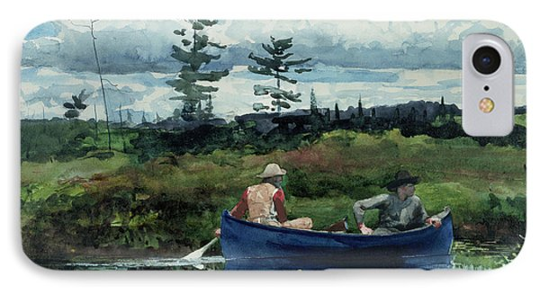 The Blue Boat IPhone Case by Winslow Homer