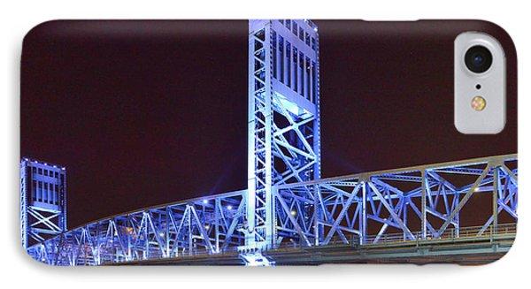 The Blue Bridge - Main Street Bridge Jacksonville Phone Case by Christine Till