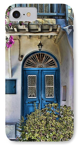 The Blue Door-santorini IPhone Case by Tom Prendergast