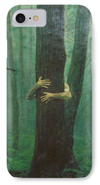 The Blue-green Forest Detail Phone Case by Derek Van Derven