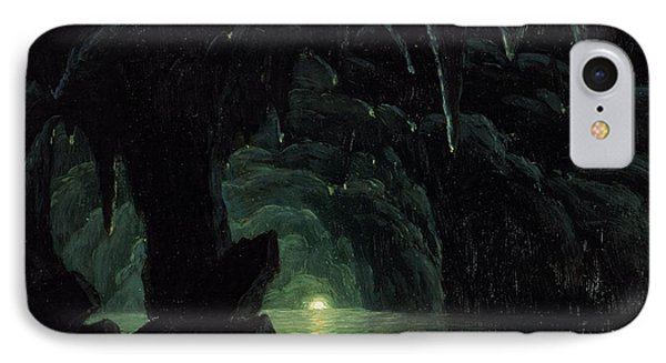 The Blue Grotto Phone Case by Albert Bierstadt