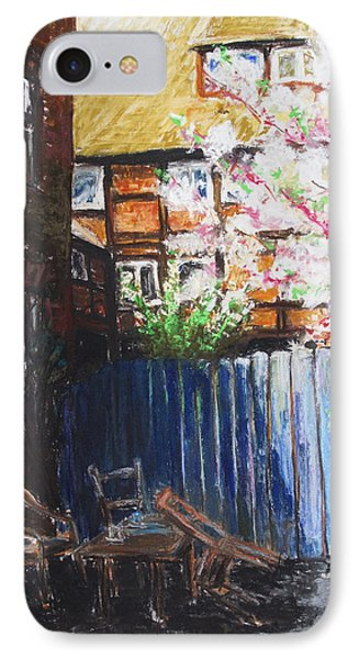 The Blue Paling - Backyard Of The Arthouse Buetzow Phone Case by Barbara Pommerenke
