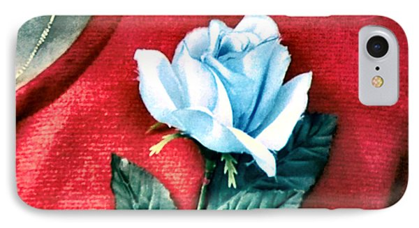 The Blue Rose IPhone Case by Luis Ludzska