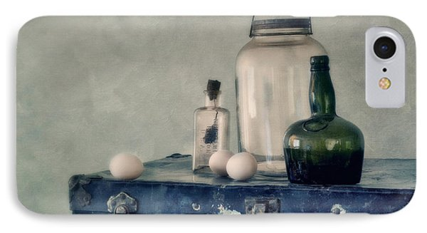 The Blue Suitcase IPhone Case by Priska Wettstein