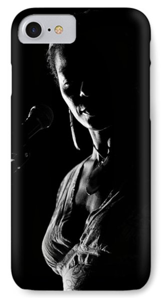 The Blues Singer IPhone Case by Goyo Ambrosio