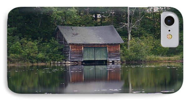 IPhone Case featuring the photograph The Boat House On Mt Chocorua Lake by Denyse Duhaime