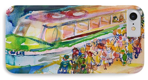 The Boat Trip, 1989 Wc On Paper IPhone Case by Brenda Brin Booker