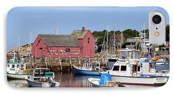 The Boat Yard At Rockport IPhone Case by Mary Lou Chmura