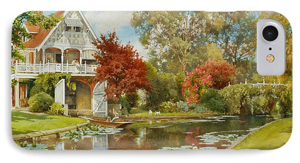 The Boathouse IPhone Case by Alfred Parsons