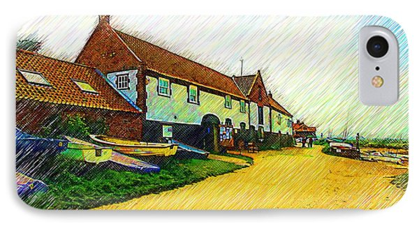 The Boathouse Burnham Overy Staithe IPhone Case by Chris Thaxter