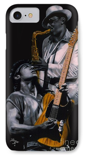 Bruce Springsteen iPhone 7 Case - Bruce Springsteen And Clarence Clemons by Thomas J Herring