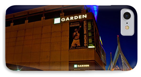The Boston Garden And Bunker Hill Bridge IPhone Case by John McGraw