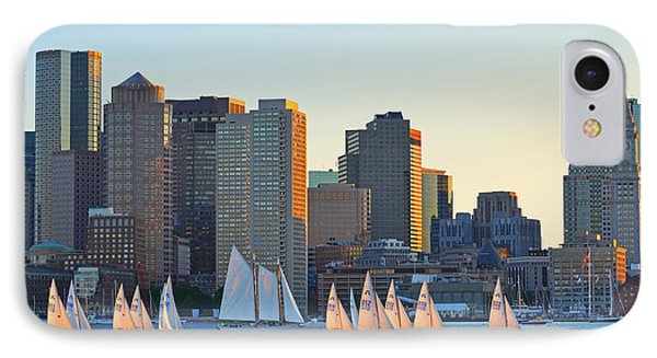 The Boston Skyline From East Boston IPhone Case