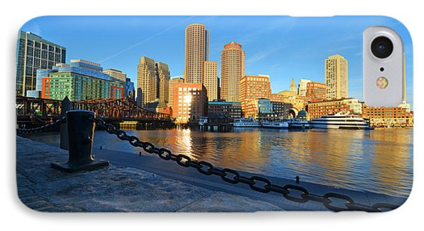 The Boston Waterfront In Morning Light IPhone Case by Toby McGuire