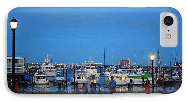 The Boston Wharf In The Early Evening Phone Case by Dora Sofia Caputo Photographic Art and Design