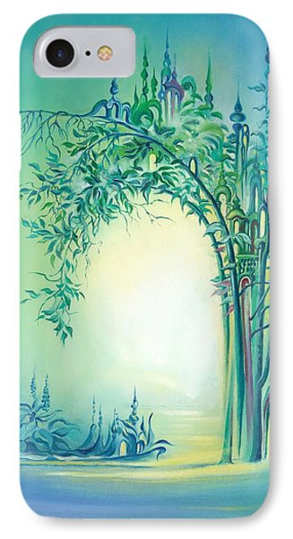 IPhone Case featuring the painting The Boundary Bush by Anna Ewa Miarczynska