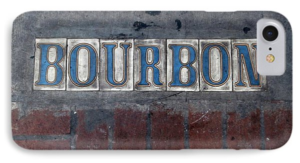 The Bourbon Street Sign Phone Case by Joseph Baril