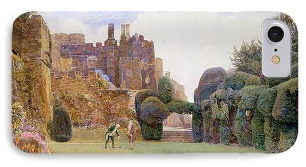 The Bowling Green, Berkeley Castle IPhone Case by George Samuel Elgood