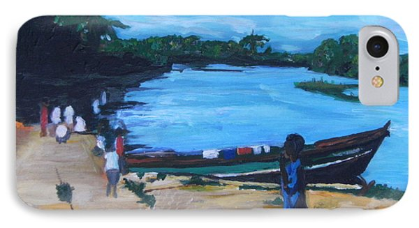 The Boy Porter  Sierra Leone Phone Case by Mudiama Kammoh